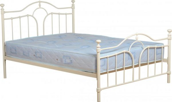 Cream metal bed, ivory bed frame, cheap metal bed frame, bed frame sale, cream beds in stock