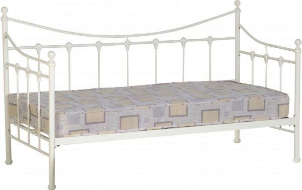 Cream metal day bed, ivory day bed, day bed offer barnstaple Guest bed barnstaple