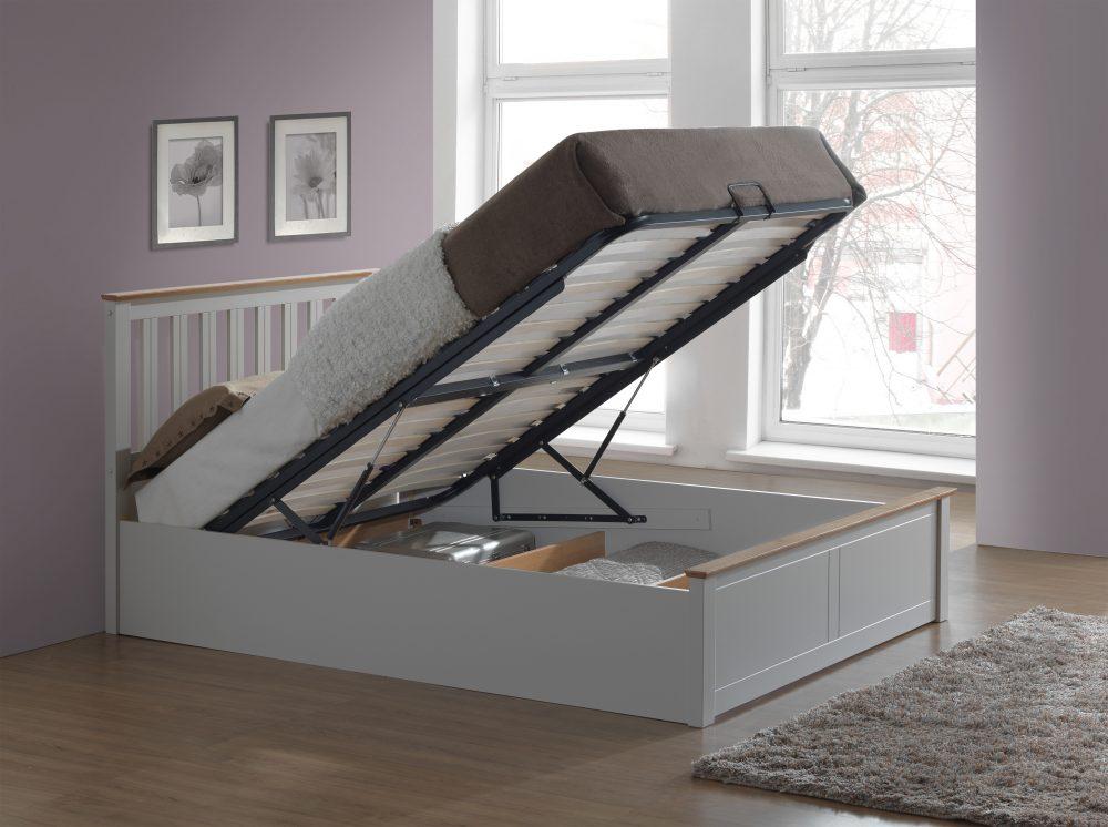 Grey ottoman framer, grey wood ottoman, ottoman bed grey sale, storage bed grey wood barnstaple