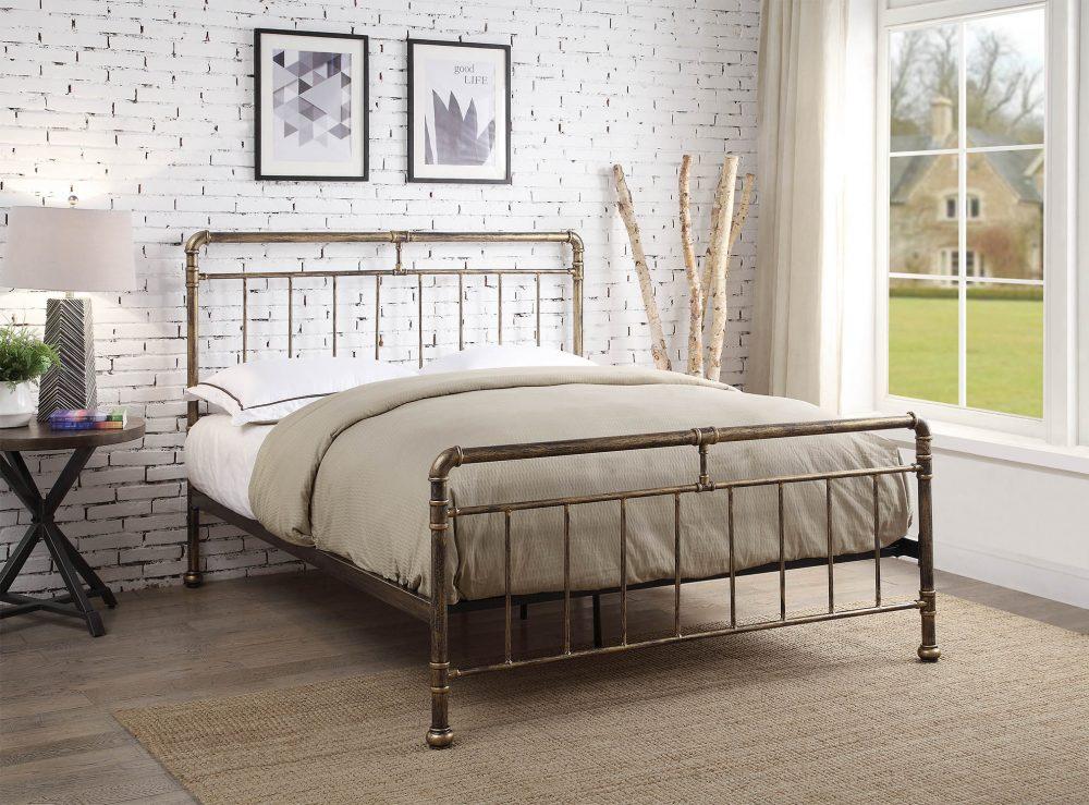 Antique Bronze Bed Frame, Bronze bedstead. Antique Bronze Bedstead Barnstaple. Frame offer Barnstaple