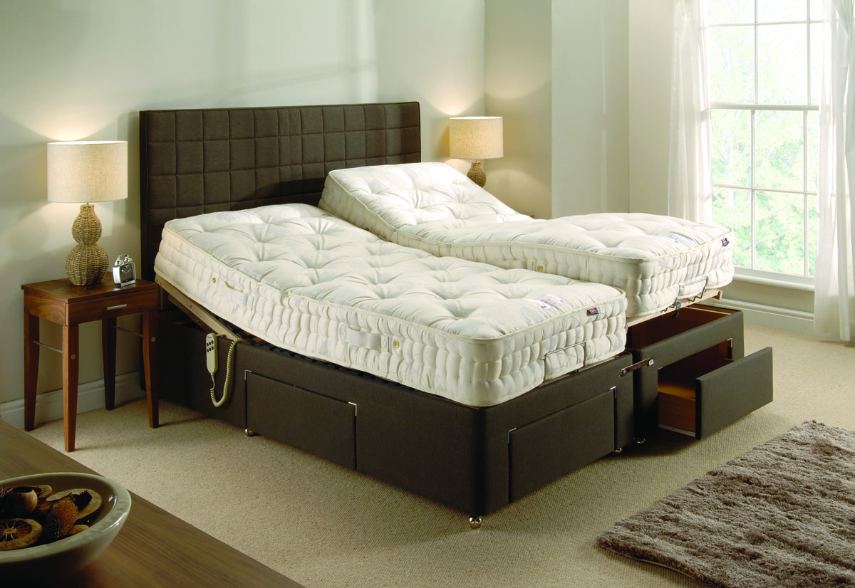 electric adjustable bed, electric bed, single electric bed, double electric bed