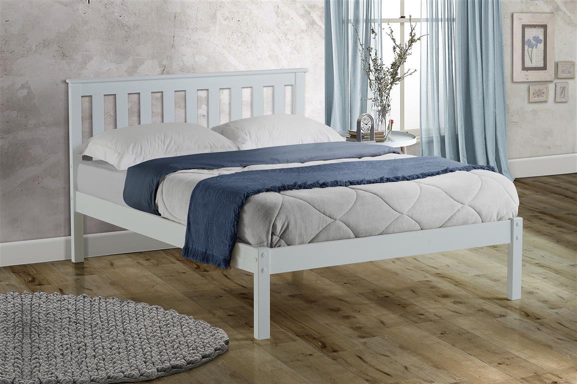 white wooden frame white bed single white bed double white bed small double white bed wooden bed frame wood bed