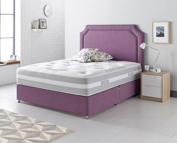 pocket spring divan set, pocket spring mattress, soft mattress, comfy mattress foam and springs